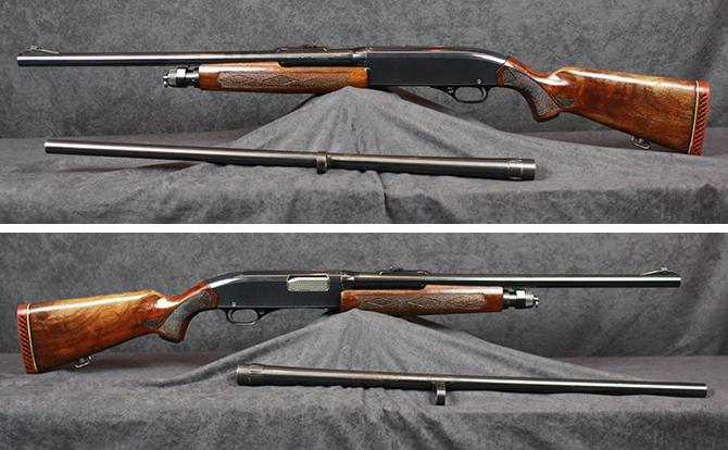 中古 ショットガン ウィンチェスター M1200 12-28 替銃身付28