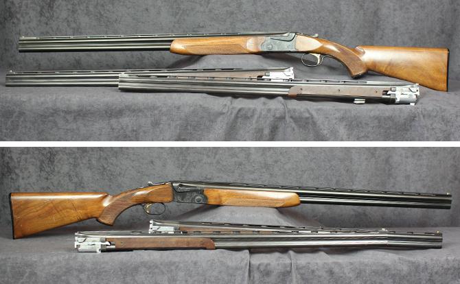 中古 ショットガン SKB 上下二連 20-28 替銃身2本・トランクケース付
