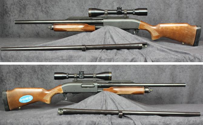 中古 ショットガン レミントン M870 12-20 ライフルドチョーク式 スコープ付 替銃身付