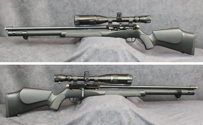 中古 エアーライフル FXエアーガンズ FXサイクロン 5.5mm ポンプ付 スコープ付