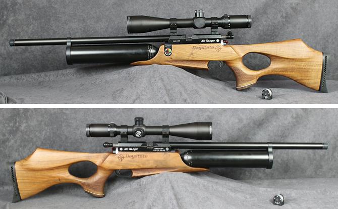 中古 エアーライフル デイステート エアーレンジャー 5.5mm ケース・ポンプ付