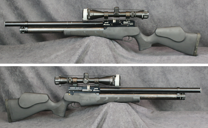 中古 エアーライフル エバニックス レインストーム 5.5mmポンプ付
